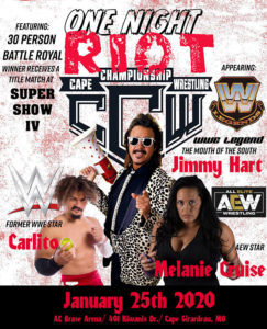 CCW One Night Riot 3 Poster
