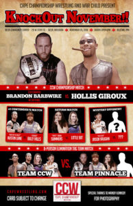 CCW Knockout November Poster