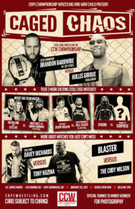 CCW Caged Chaos Poster