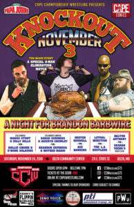 CCW Knockout November 3 Poster