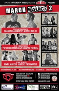 CCW March Malice 2 Poster