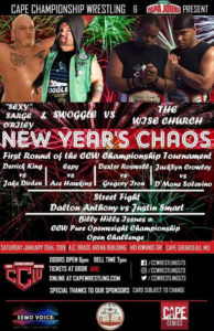 CCW New Year's Chaos Poster