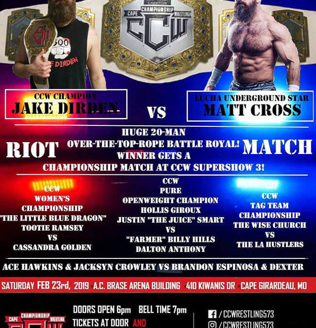 CCW One Night Riot 2 Poster